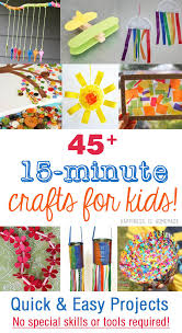 quick craft activities for toddlers. quick and easy 15 minute kids crafts craft activities for toddlers happiness is homemade