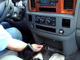 06 08 dodge ram radio removal in less than 2 min