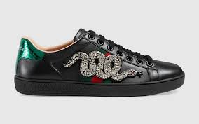 gucci shoes black snake. gucci black crystal snake embroidered ace low top sneaker shoes u