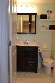 modern half bathrooms. Majestic White Floating Shelves Bath Over Toilet And Black Painted Vanities In Modern Half Ideas Bathrooms S