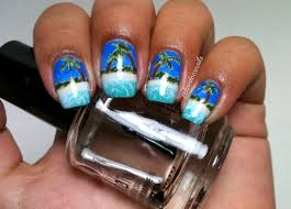 Olivia Ellen: Tropical Palm Tree Nail Art by Celine- Guest Post