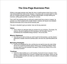 example of a business plan business plan template examples 9 business plan templates free