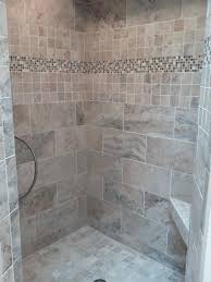 bathroom shower tile photos. bathroom tile shower with accent strip and bench seat photos