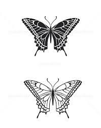 アゲハ 蝶 チョウ シルエット 墨絵 イラスト素材 5615201 フォト
