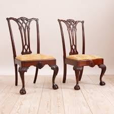 chippendale side chair. Pair Of Philadelphia Chippendale Style Chairs In Mahogany, C. 1870 Side Chair