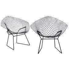 Pair of Harry Bertoia Diamond Chairs at 1stdibs