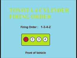 toyota firing order toyota firing order