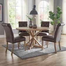 huntington chocolate brown bonded leather on tufted dining chair set of 2