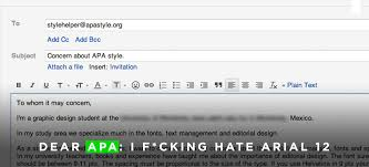 Apa Style Spacing The Designer Who Emailed Apa My F Opinion