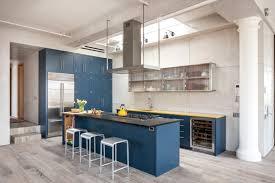 Dark Blue Kitchen Cabinets Light Blue Modern Kitchen Quicuacom
