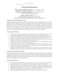 Qa Analyst Resume Sample Inspirational Qa Analyst Resume Sample For Unique Quality Assurance Analyst Resume