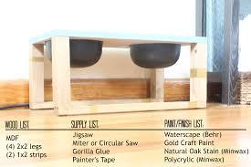 diy elevated dog feeder with storage designs