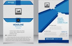 Business Brochure Template 3d Modern Blue Checkered Ornament Free