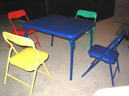 kids folding table and chair set modern