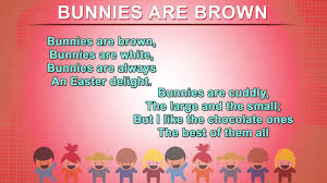 bunnies are brown how to recite poems for kids nursery rhymes songs with s and action you