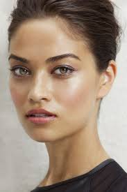 beautiful fresh face with rose pink lips not to mention this smooth olive skin tone is to for