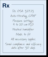 Sample Auto Titrating Cpap Prescription Novasom