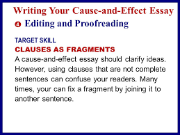 explaining why something happened ppt video online  writing your cause and effect essay