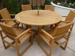 terrific round teak patio table for your house idea winning teak furniture home garden table