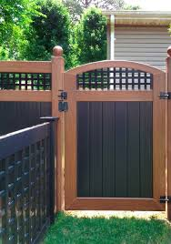 wood fence panels door. 119 PVC Vinyl Wood Grain And Black Fence Gate Ball Caps Panels Door A