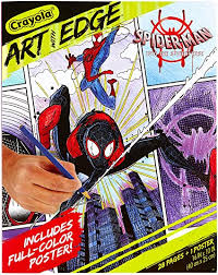 The movie is directed by bob persichetti, peter ramsey and rodney rothman and produced by avi arad. Amazon Com Crayola Spiderverse Coloring Book Pages 1 Full Color Spiderman Poster 28 Pages Gifts For Teens Adults Toys Games