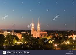 Lighting Stores Ottawa Ontario Night Lights Of Notre Dame Basilica Ottawa Ontario Canada