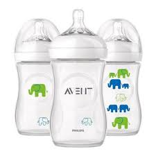 Avent Decorated Bottles Avent Natural Feeding Bottle Decorated Green 10000ML x100 51