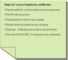 Selling A Share Certificate Lost Share Certificate Steps You Should Take For Issue Of Duplicate