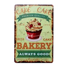 Online Shop Happy Birthday Cake Delicious Bakery Food Metal Tin