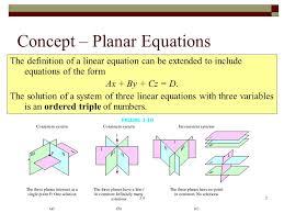 concept planar equations