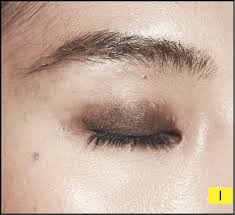 you don t need to apply this neatly as it s going to be covered by gold eye makeup later