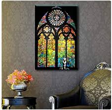 elegant stained glass wall art decor