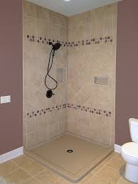 dual curb tiled walk in shower