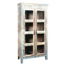 tall cabinets with glass doors tall cabinet rustic tall wood distressed cabinet with glass doors wondrous