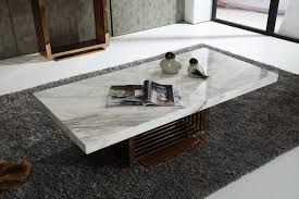 image of modern rectangle white marble coffee table chocoaddicts intended for white marble coffee table