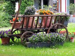 outdoor garden flower wagon free images lawn flower decoration green vehicle cottage