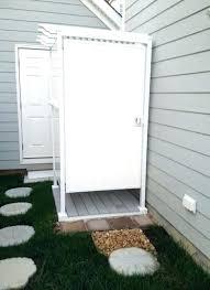 outdoor shower enclosure pvc diy