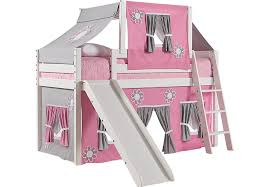 bunk beds with desk for girls.  Beds Pink Cottage White Jr Tent Loft Bed With Slide And Top For Bunk Beds With Desk Girls