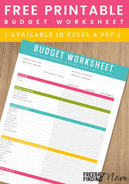 Free Family Budgeting Worksheets Free Printable Household Budget Worksheet