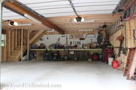garage inside. Interesting Inside 24u0027x24u0027 Two Story Garden Shed Garage Interior To Inside N