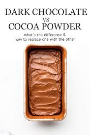 Chocolate Substitution Chart How To Replace Cocoa Powder With Dark Chocolate Kitchen