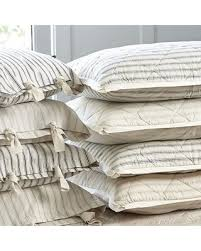 Ticking Stripe Quilted Bedding | equalvote.co & Ticking Stripe Quilted Bedding Adamdwight.com