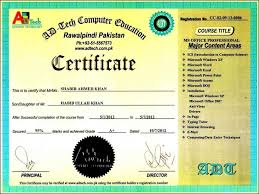 Computer Certificate Format Computer Certificate Template Template Update24 Template 1