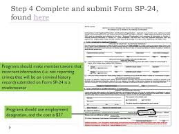 sp167 form state and fbi fingerprint checks for members and staff ppt video