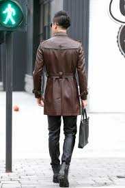 plus size 4xl long leather coat men leather jacket fashion 2016 new men s jackets coats male outerwear black