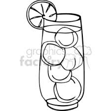iced tea clipart black and white. Exellent White Ice Drink Outline Inside Iced Tea Clipart Black And White