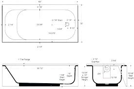typical bathtub dimension standard average bathtub size shower ht sizes in idea tub throughout bath typical typical bathtub dimension