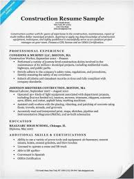 Resume For Construction Worker 29 Resume Construction 2018 Best Resume Templates Resume Examples