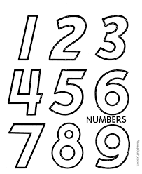 free printable number coloring pages number worksheets toddlers ...