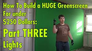 studio greenscreen for under 250 dollars part 3 lights